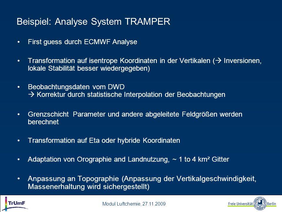 Beispiel: Analyse System TRAMPER