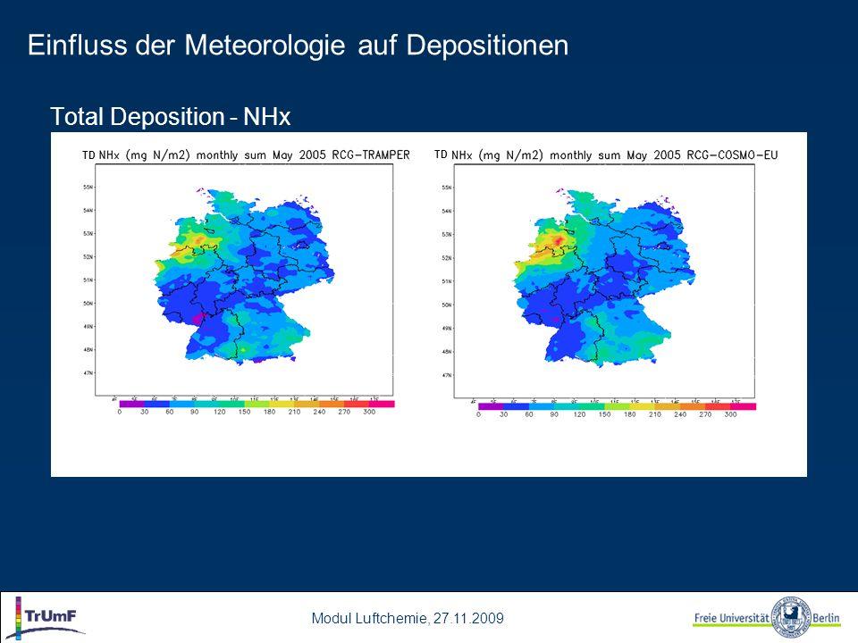 Einfluss der Meteorologie auf Depositionen