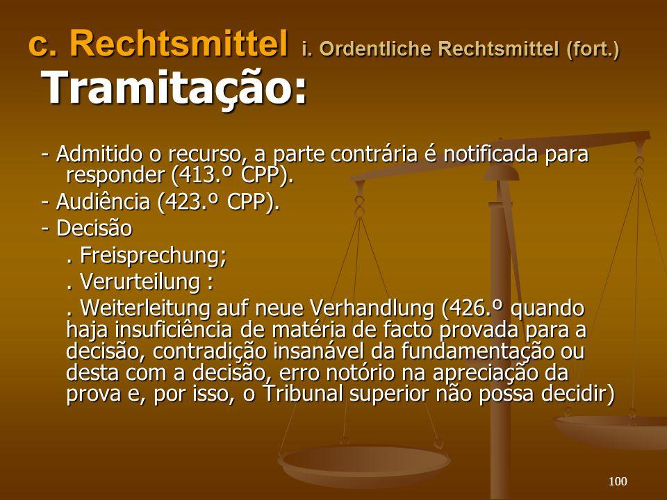c. Rechtsmittel i. Ordentliche Rechtsmittel (fort.)