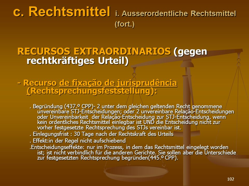 c. Rechtsmittel i. Ausserordentliche Rechtsmittel (fort.)