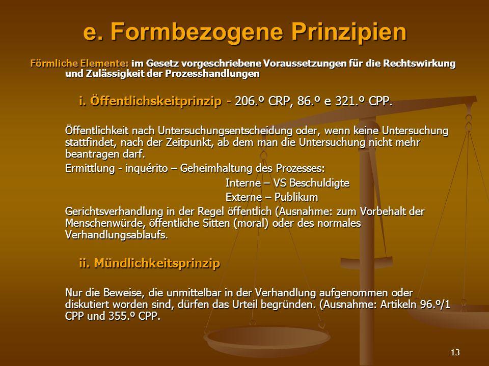 e. Formbezogene Prinzipien