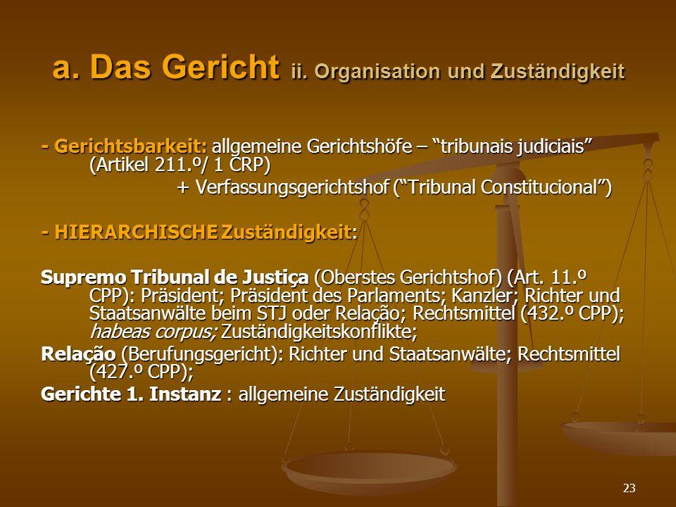 a. Das Gericht ii. Organisation und Zuständigkeit