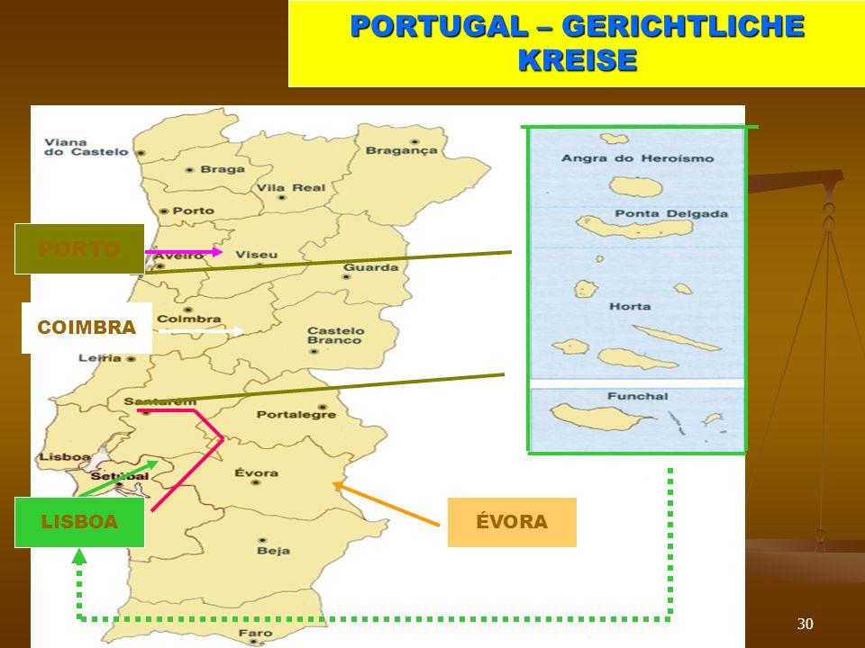PORTUGAL – GERICHTLICHE KREISE