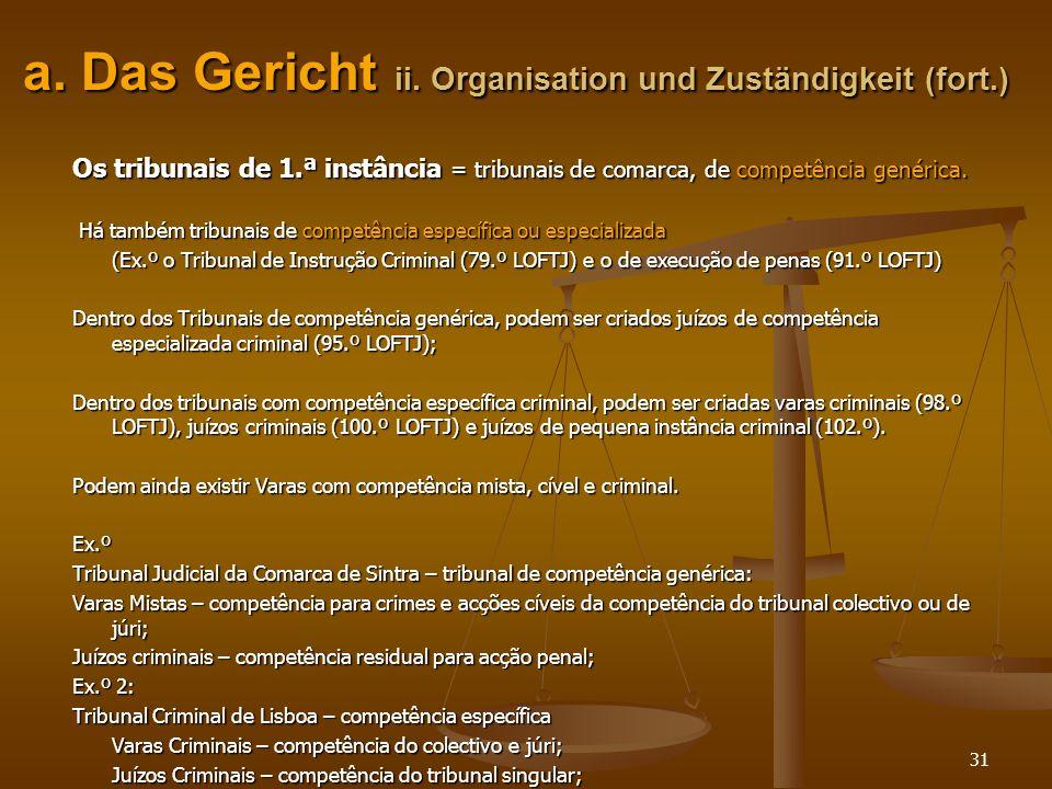 a. Das Gericht ii. Organisation und Zuständigkeit (fort.)