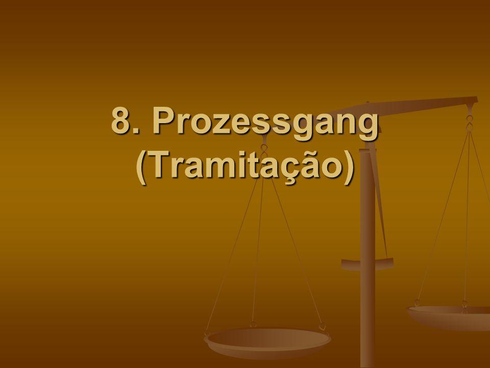 8. Prozessgang (Tramitação)