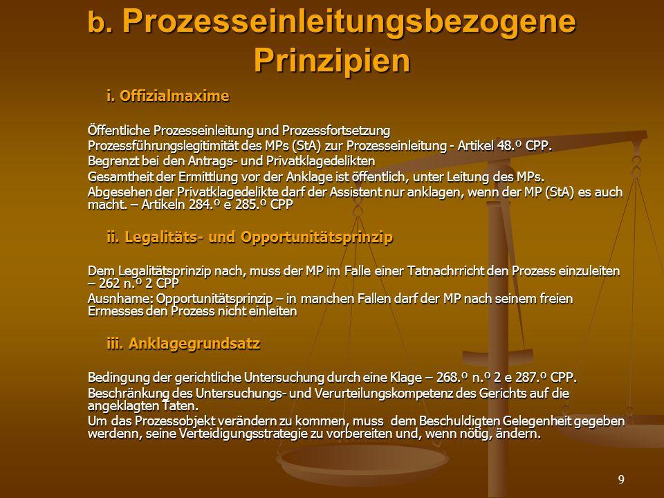 b. Prozesseinleitungsbezogene Prinzipien