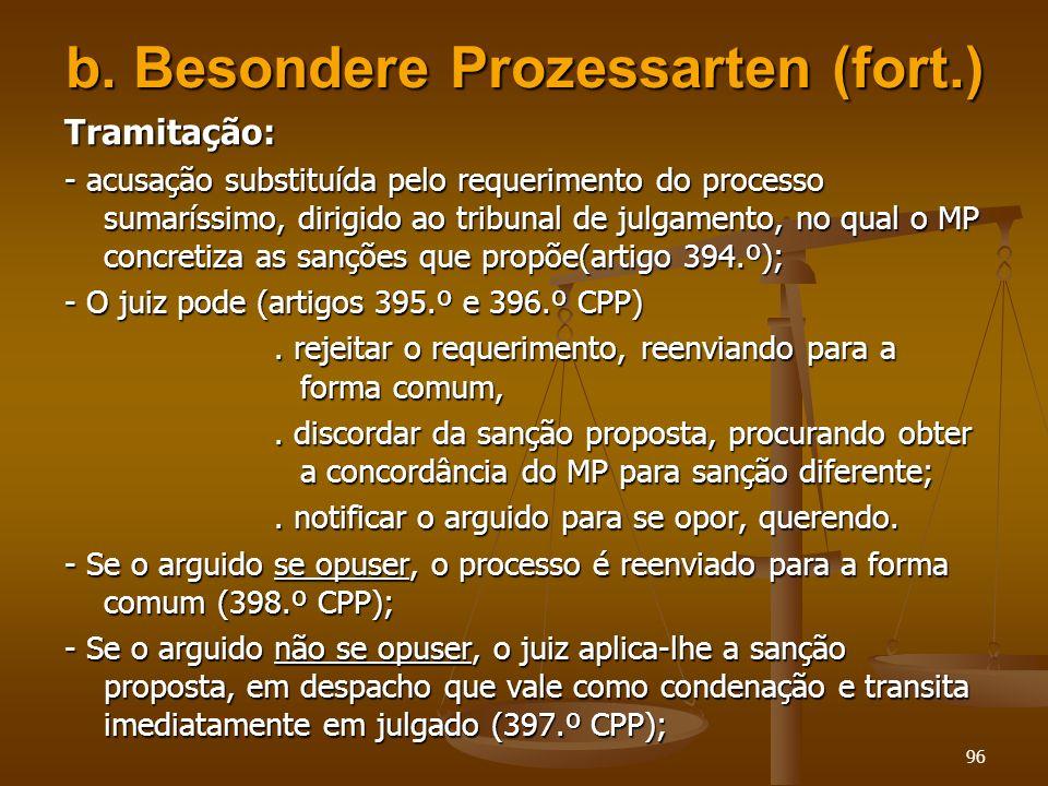 b. Besondere Prozessarten (fort.)