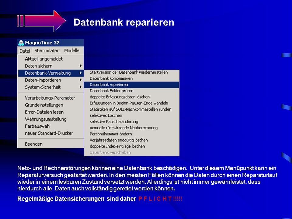 Datenbank reparieren