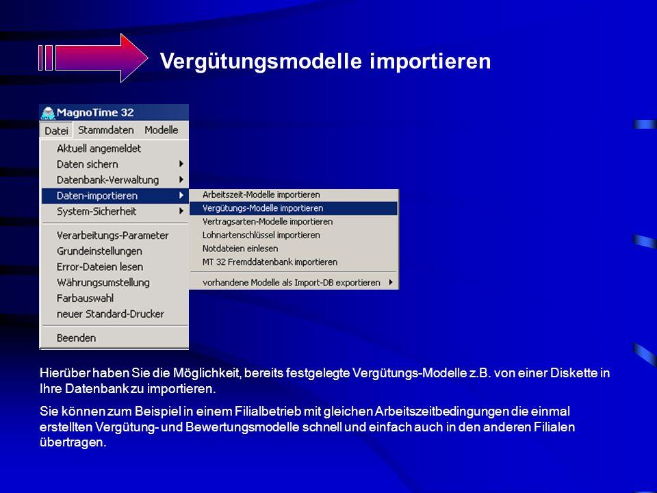 Vergütungsmodelle importieren