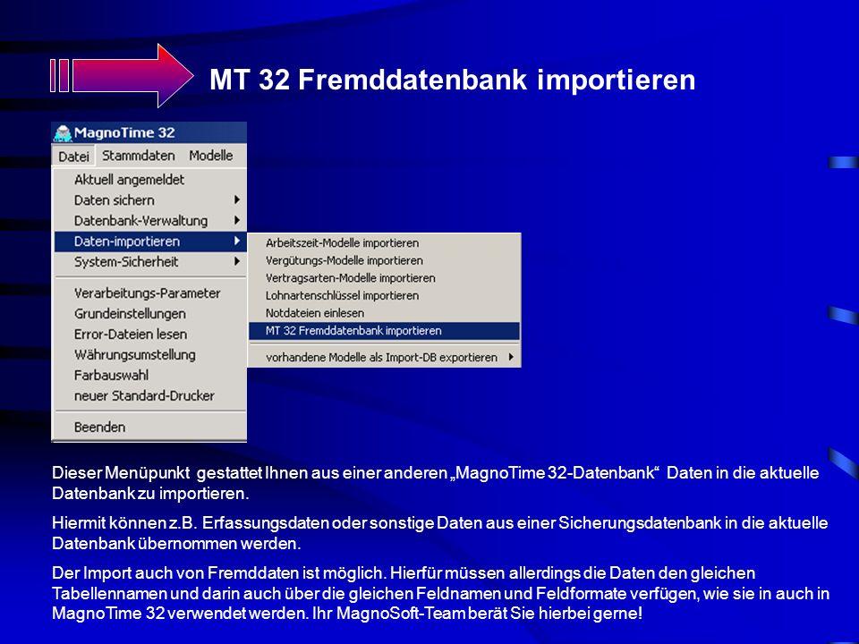 MT 32 Fremddatenbank importieren