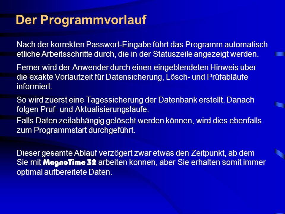 Der Programmvorlauf