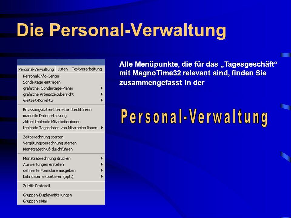 Die Personal-Verwaltung