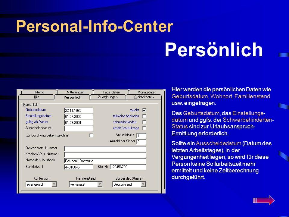 Persönlich Personal-Info-Center