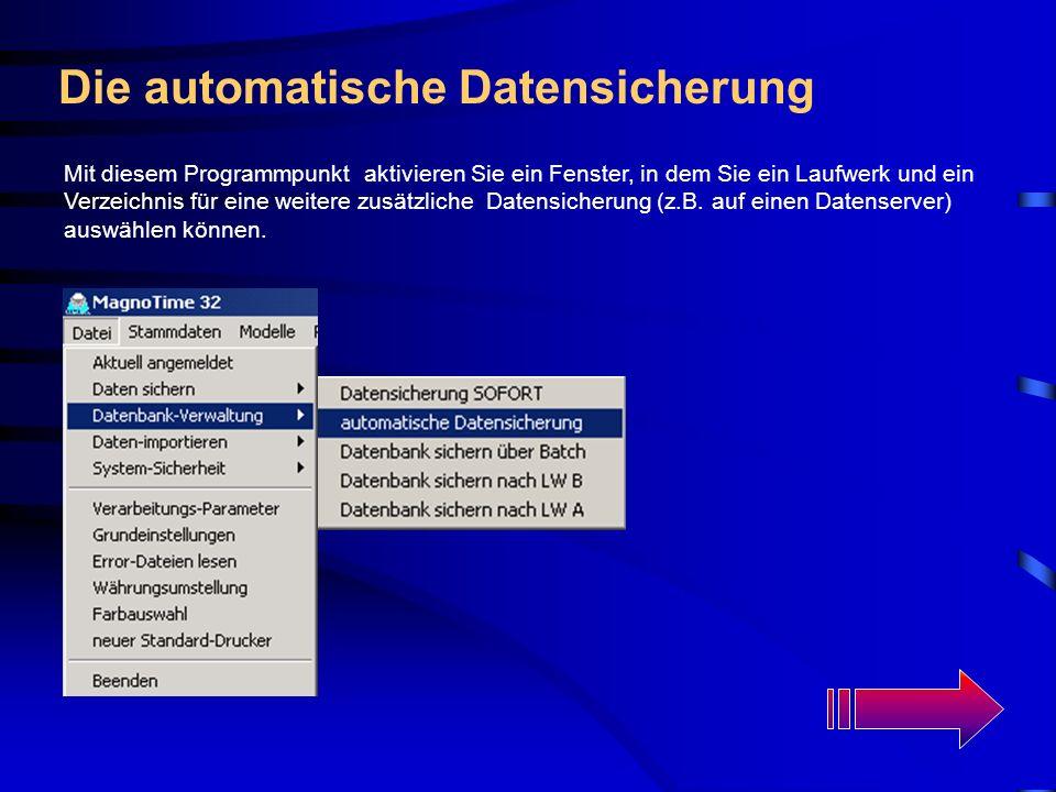 Die automatische Datensicherung