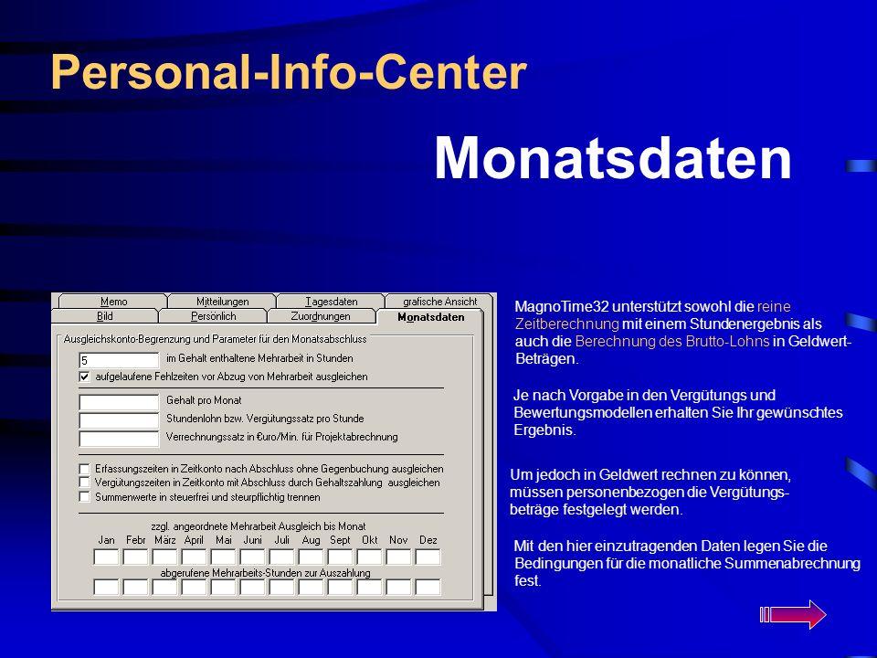 Monatsdaten Personal-Info-Center