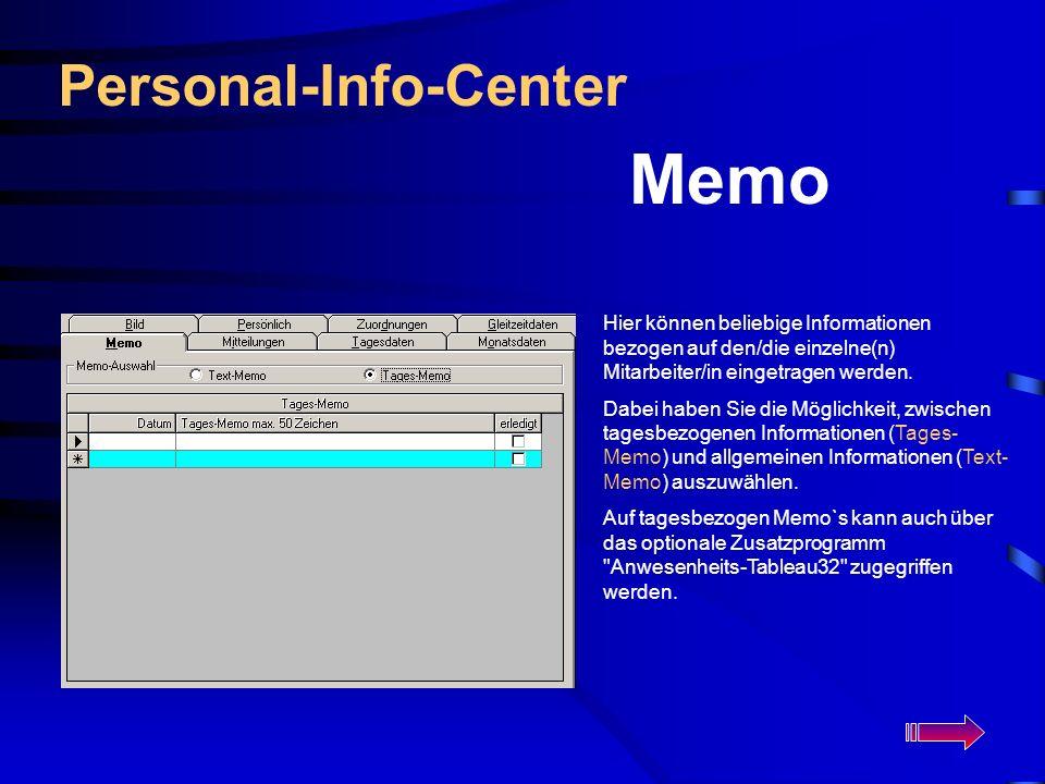 Memo Personal-Info-Center