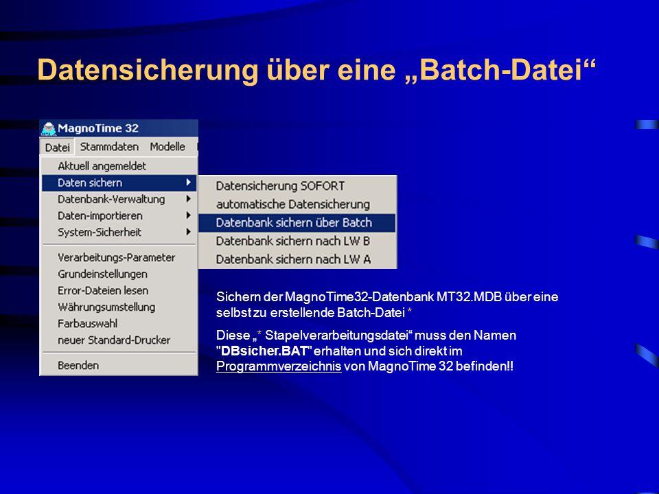 """Datensicherung über eine """"Batch-Datei"""