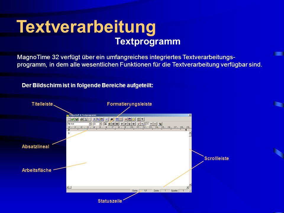 Textverarbeitung Textprogramm