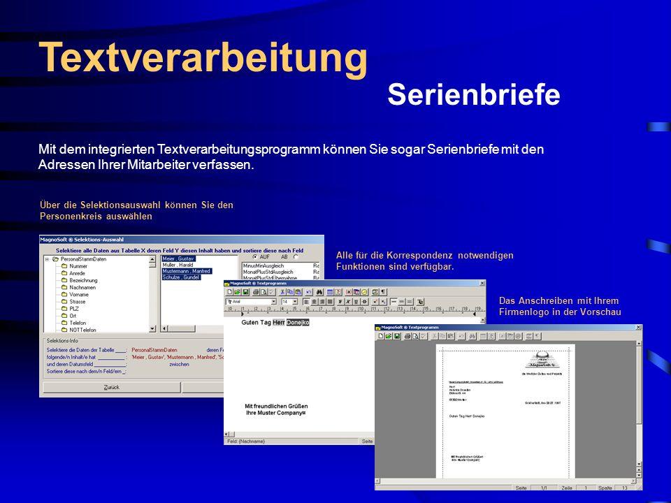 Textverarbeitung Serienbriefe