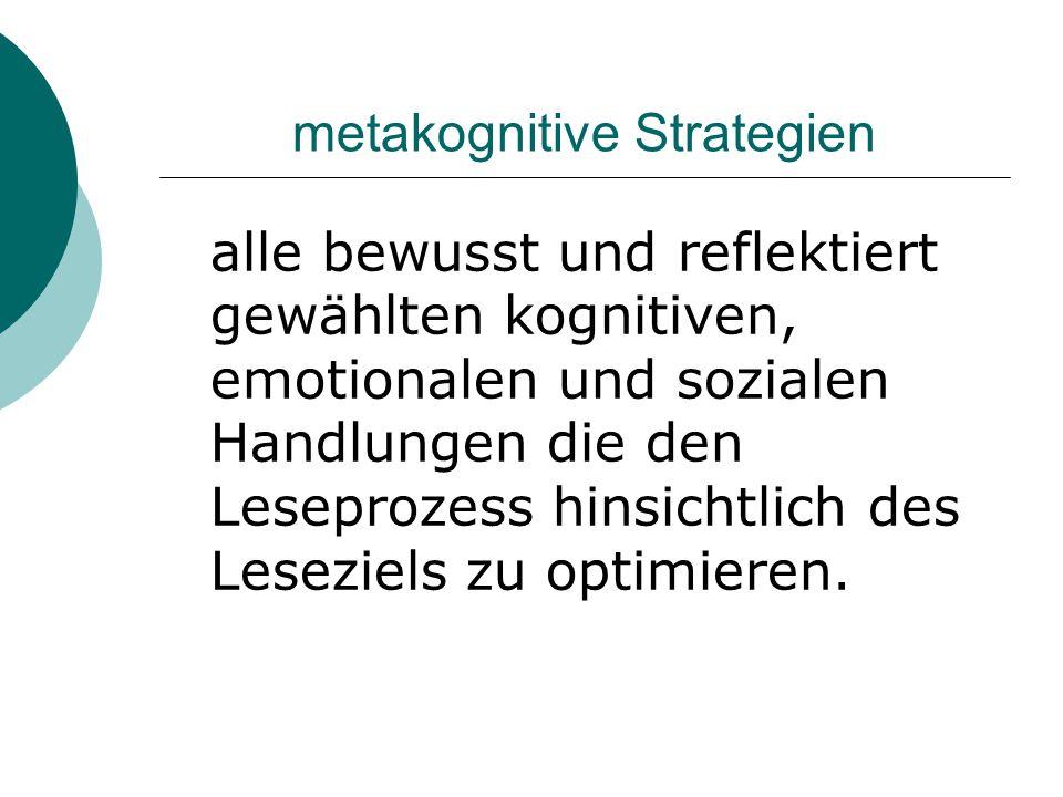metakognitive Strategien