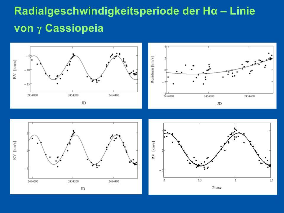 Radialgeschwindigkeitsperiode der Hα – Linie