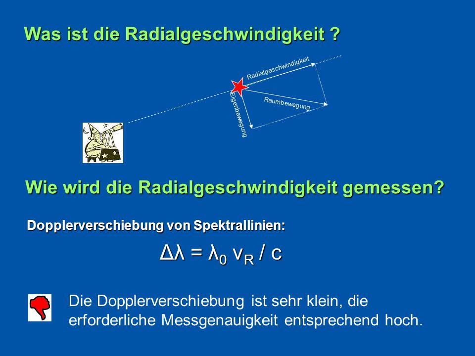 Dopplerverschiebung von Spektrallinien: