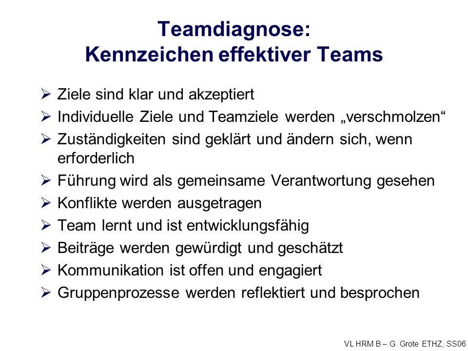 Teamdiagnose: Kennzeichen effektiver Teams