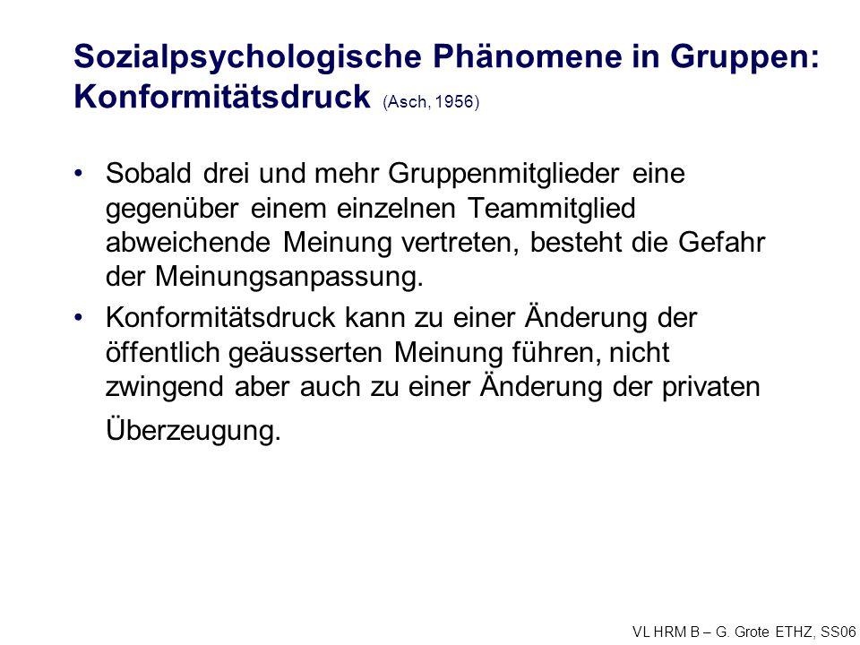 Sozialpsychologische Phänomene in Gruppen: Konformitätsdruck (Asch, 1956)