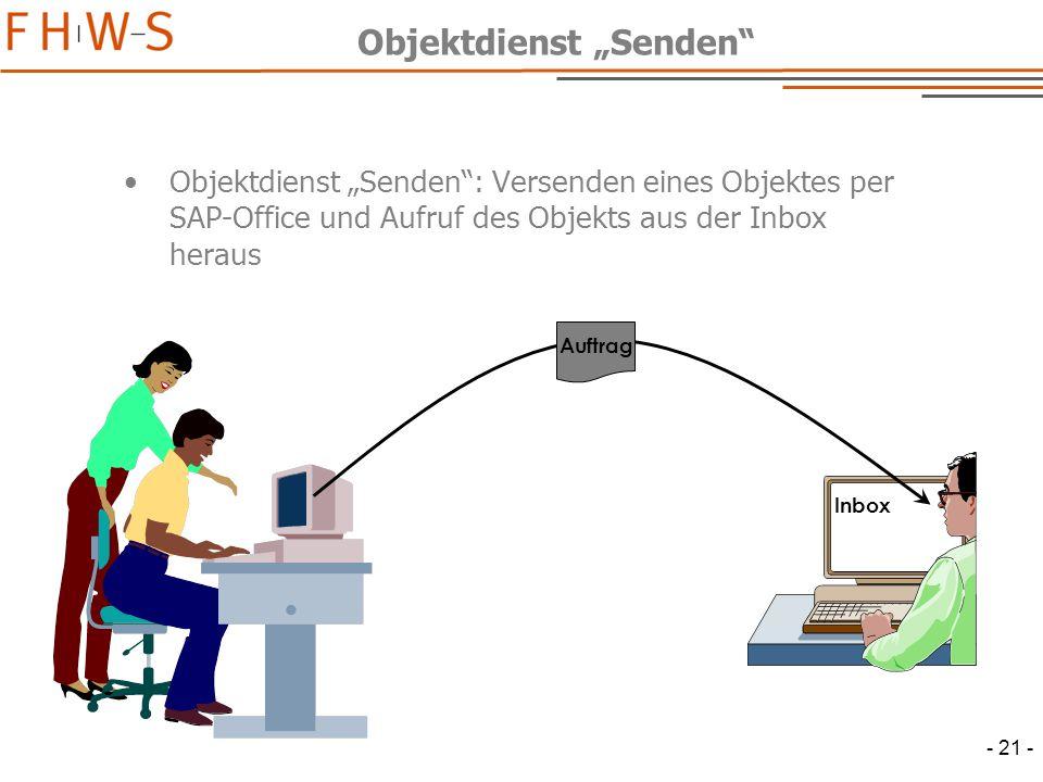 """Objektdienst """"Senden"""