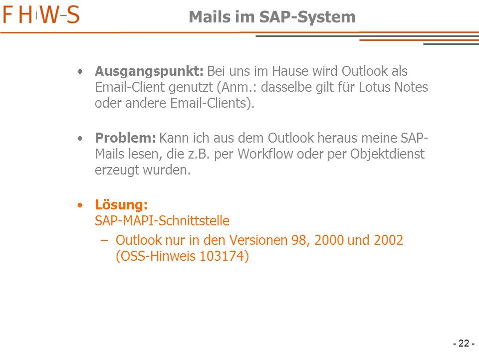 Mails im SAP-System