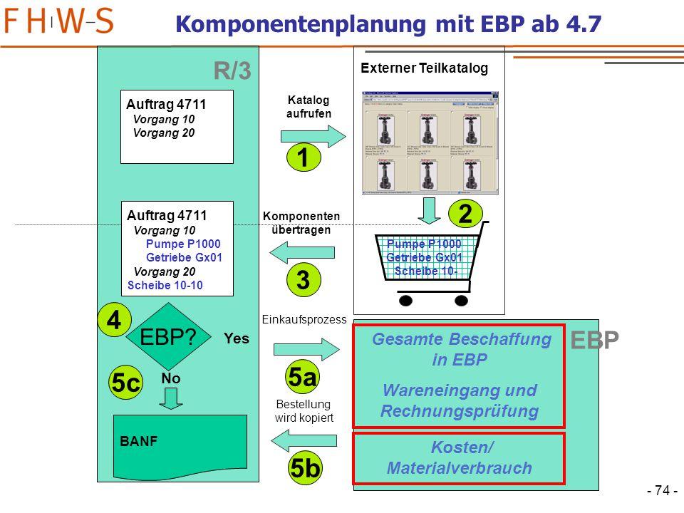 Komponentenplanung mit EBP ab 4.7