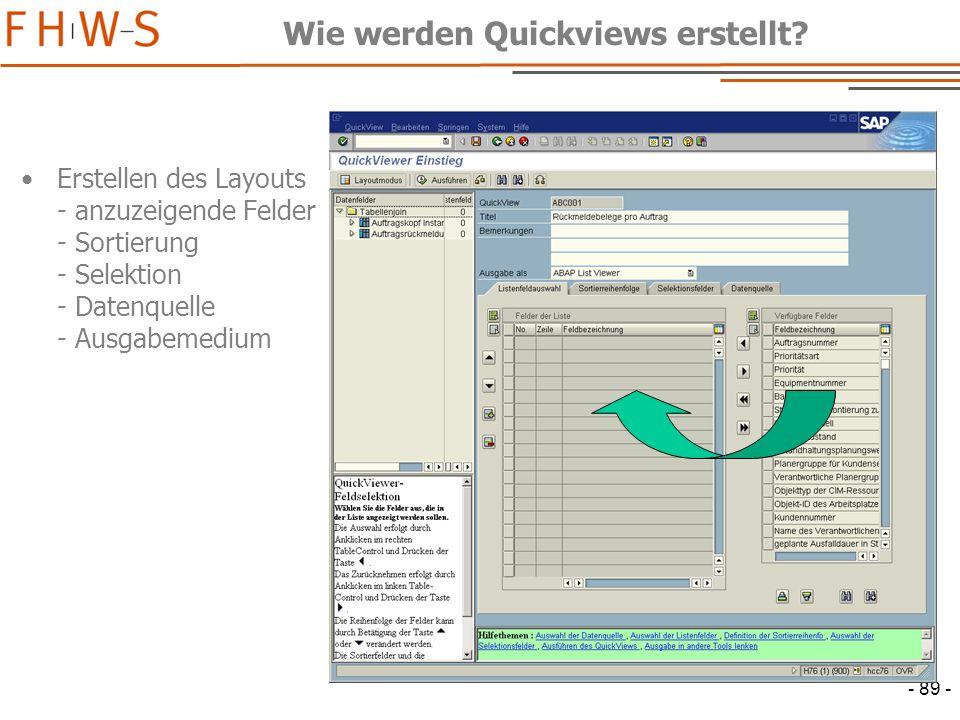 Wie werden Quickviews erstellt