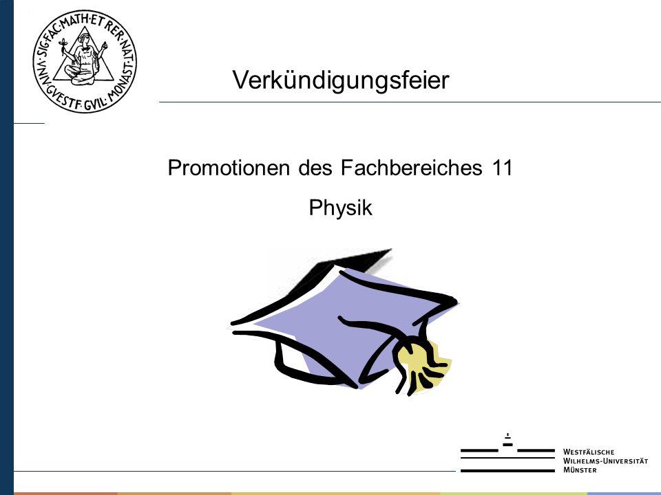 Promotionen des Fachbereiches 11