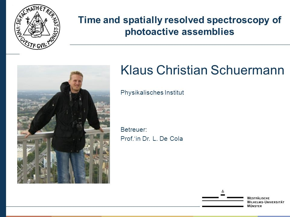 Time and spatially resolved spectroscopy of photoactive assemblies