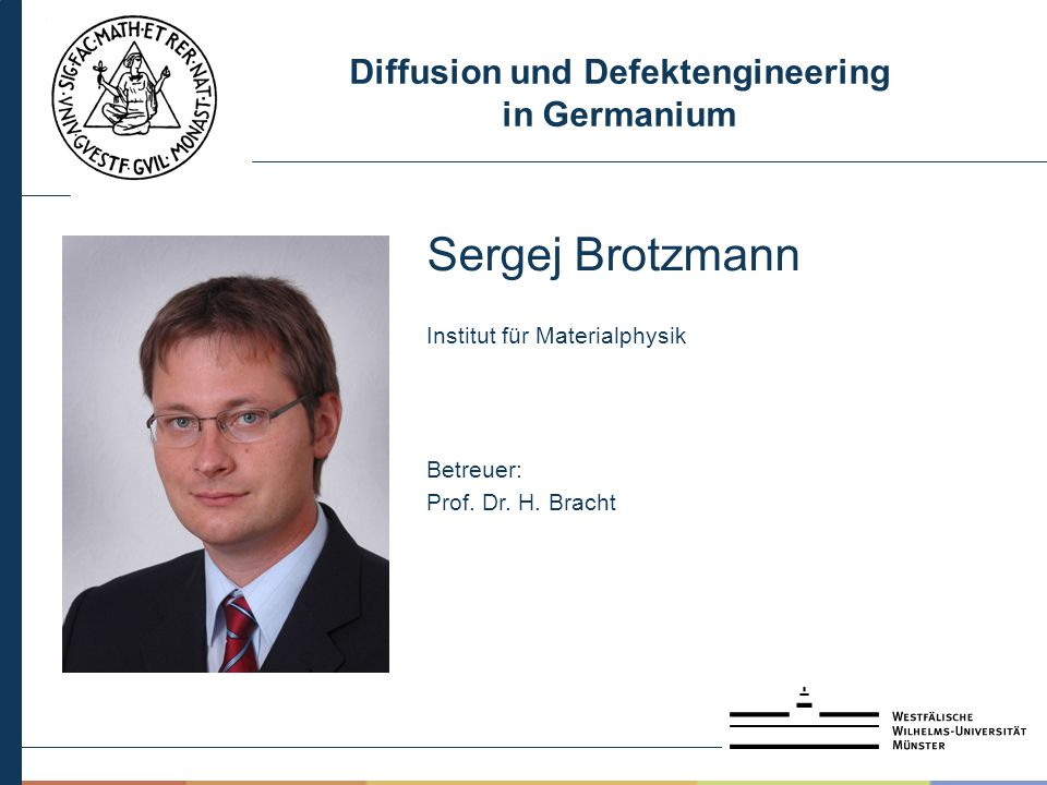 Diffusion und Defektengineering in Germanium