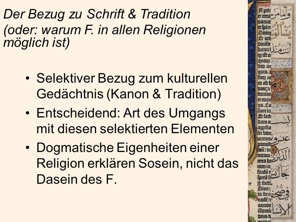 Der Bezug zu Schrift & Tradition