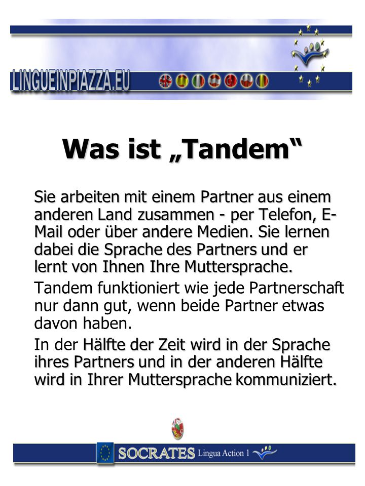 "Was ist ""Tandem"
