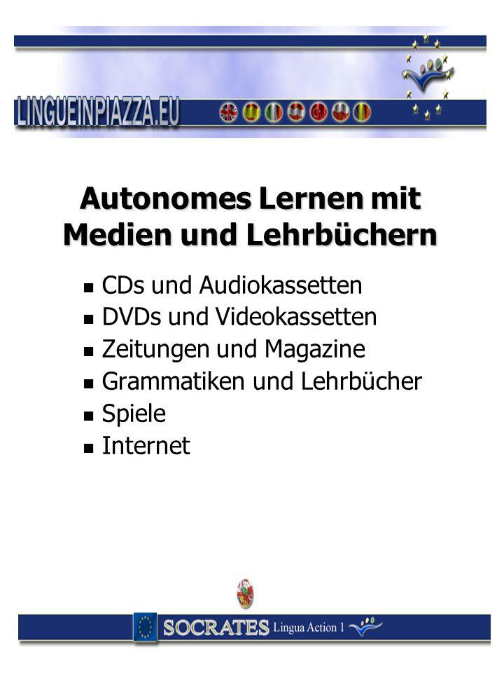 Autonomes Lernen mit Medien und Lehrbüchern