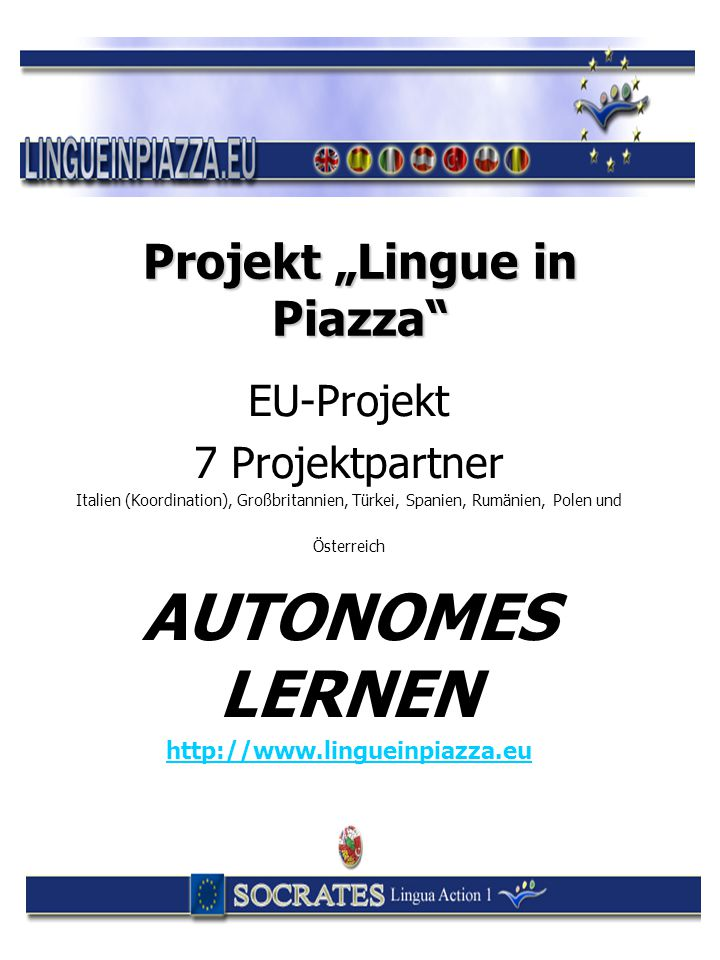 "Projekt ""Lingue in Piazza"