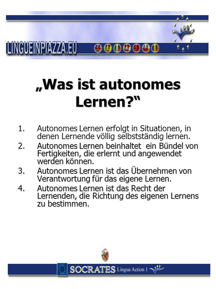 """""""Was ist autonomes Lernen"""