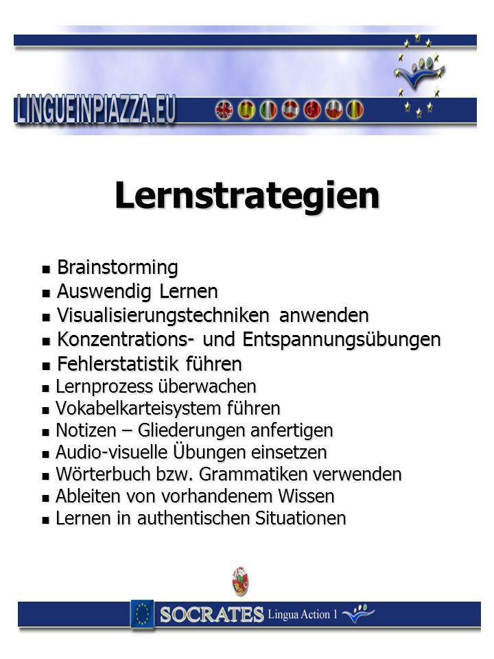 Lernstrategien Brainstorming Auswendig Lernen