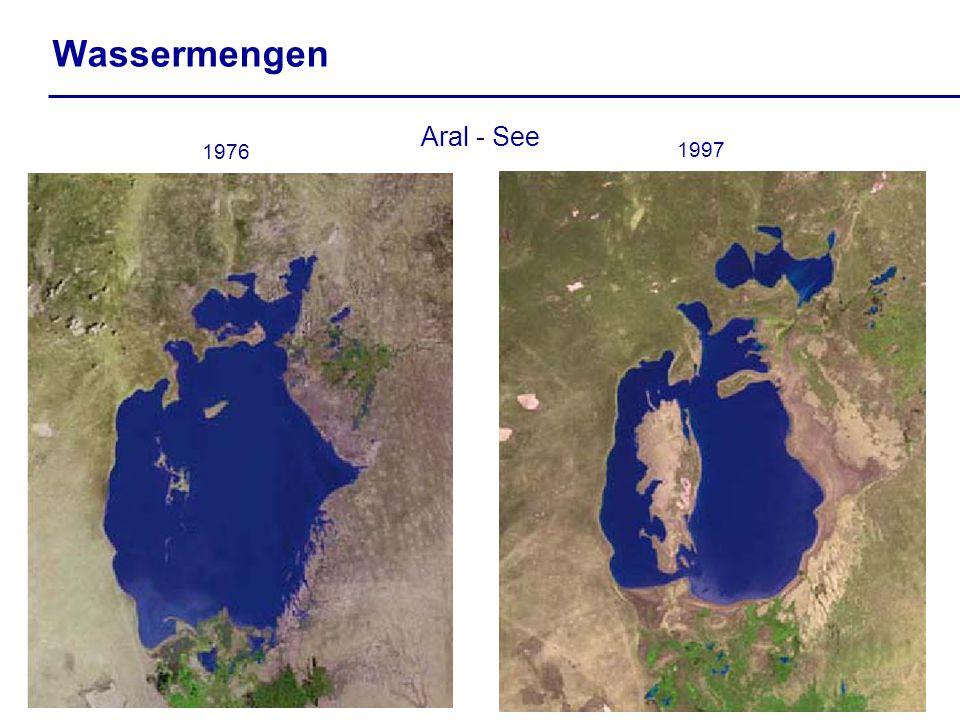 Wassermengen Aral - See 1976 1997