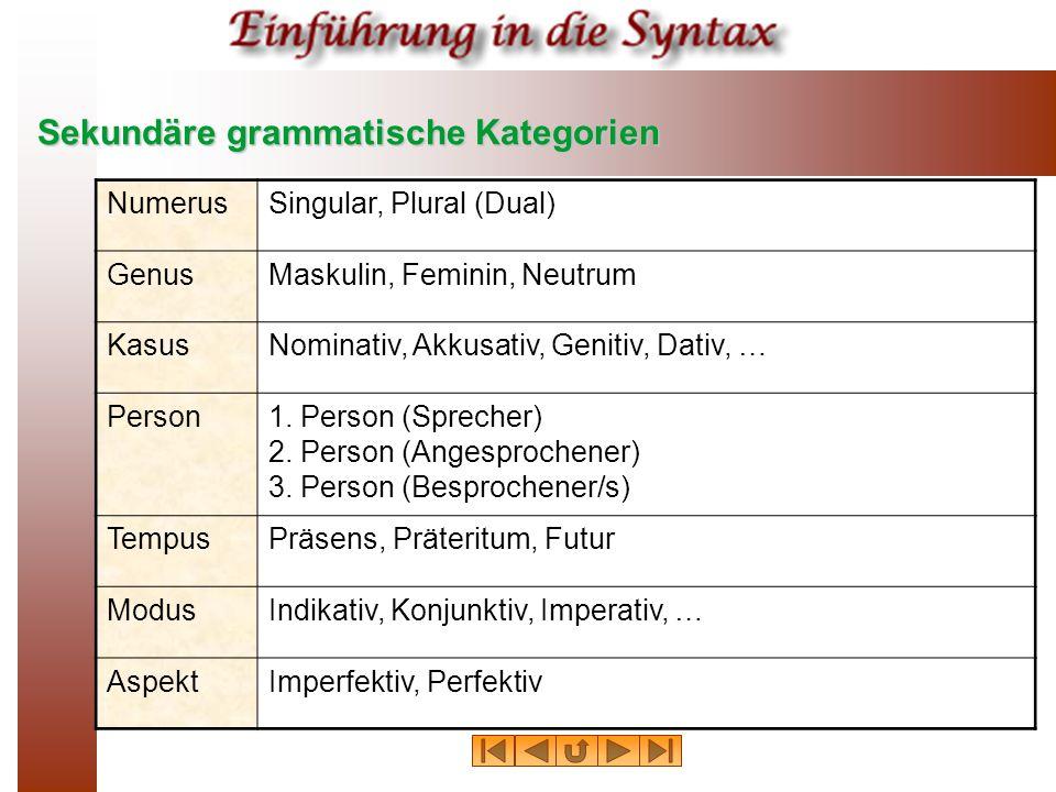 Sekundäre grammatische Kategorien
