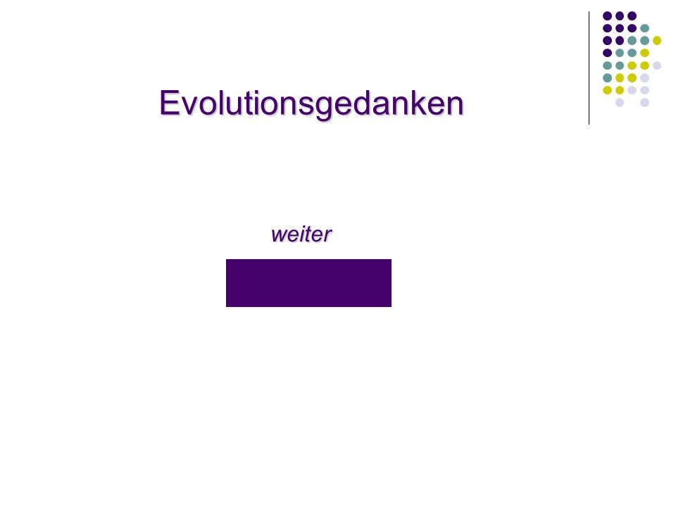 Evolutionsgedanken weiter