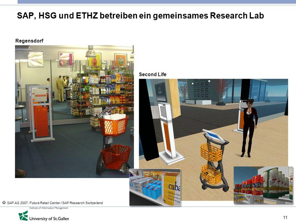SAP, HSG und ETHZ betreiben ein gemeinsames Research Lab