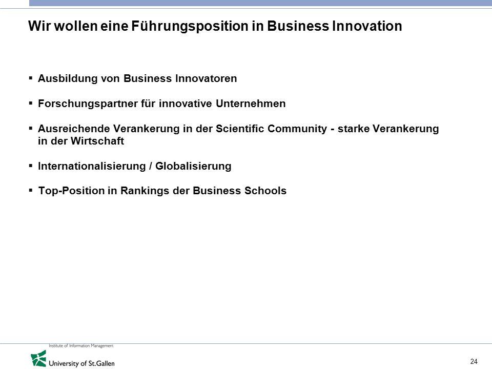 Wir wollen eine Führungsposition in Business Innovation