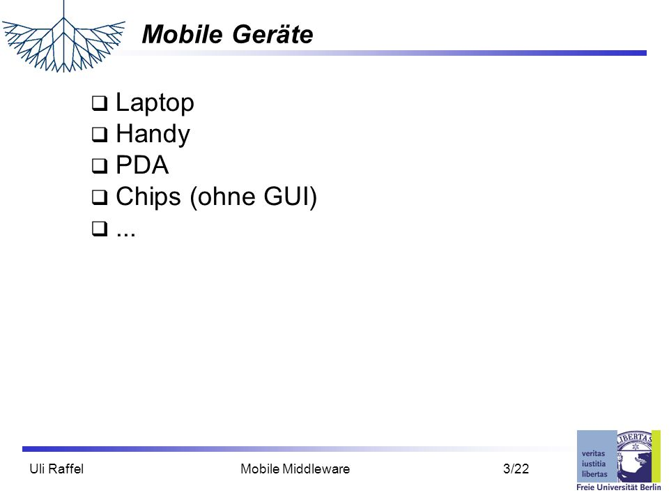 Mobile Geräte Laptop Handy PDA Chips (ohne GUI) ...
