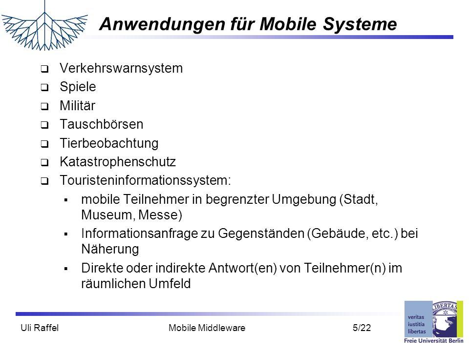 Anwendungen für Mobile Systeme
