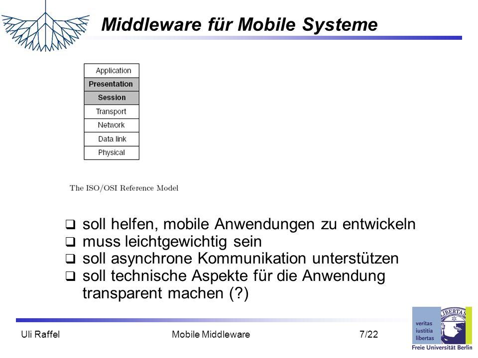 Middleware für Mobile Systeme