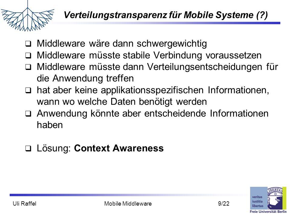 Verteilungstransparenz für Mobile Systeme ( )